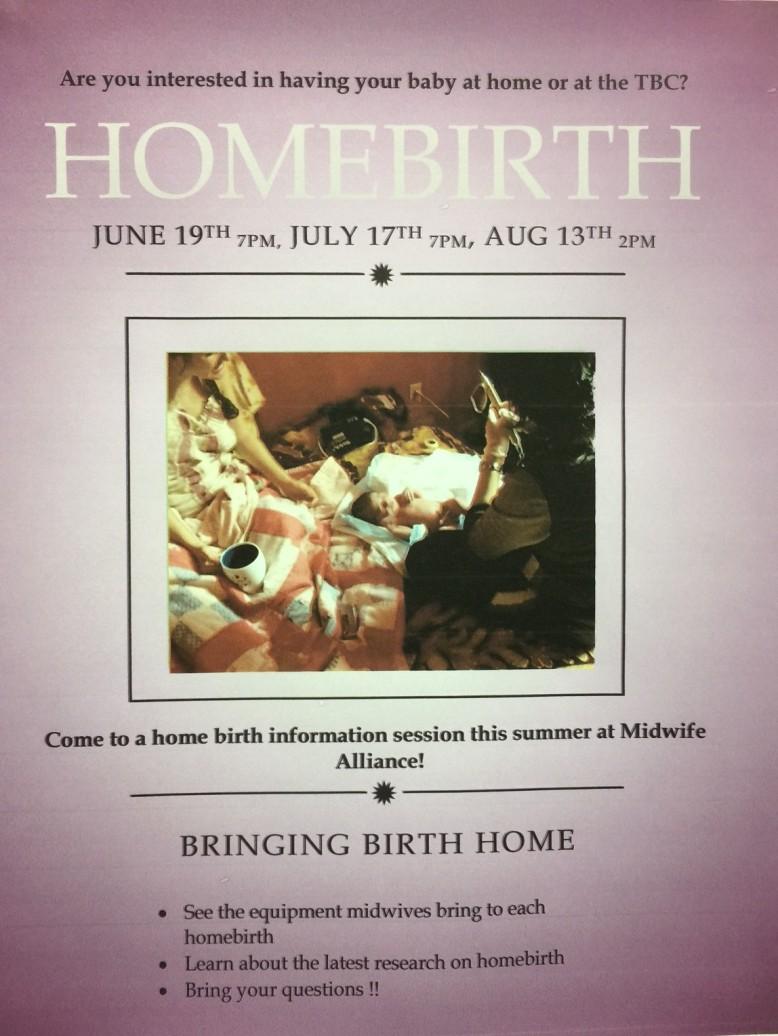 homebirth flyer