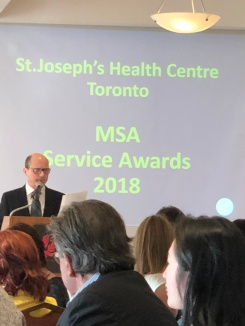 The Medical Staff Association awards, 2018, where Mahnaz was honoured.