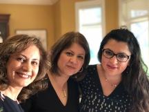 Sepideh, Mahnaz, and Abir
